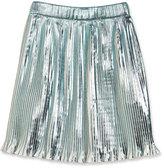 Little Marc Jacobs Metallic Plissé; Skirt, White, Size 4-5