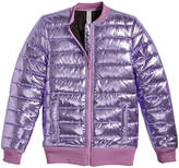 Ideology Metallic Puffer Bomber Jacket, Big Girls, Created for Macy's