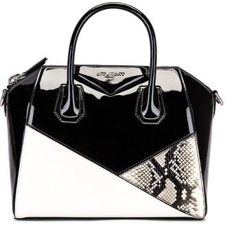 Givenchy Small Mixed Leather Antigona in Black & White   FWRD