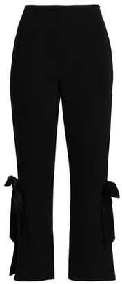 Cinq à Sept Lou Bow-embellished Stretch-crepe Straight-leg Pants