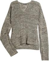 Open-knit linen-blend sweater