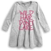 Urban Smalls Light Heather Gray 'Wild Hair' A-Line Dress - Toddler & Girls
