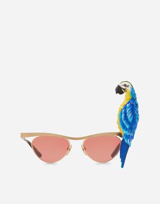 Dolce & Gabbana Tropical Parrot Sunglasses