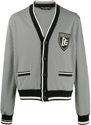 Dolce & Gabbana houndstooth patch cardigan