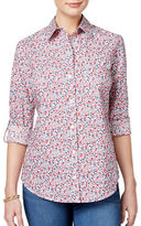 Karen Scott Petite Ditsy Days Shirt