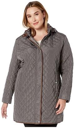 Lauren Ralph Lauren Plus Size Stand Collar Quilt Coat