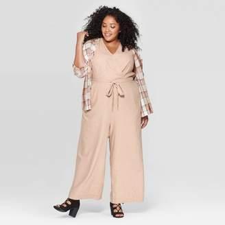 Universal Thread Women's Plus Size Sleeveless V-Neck Jumpsuit