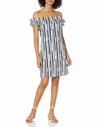 Lucca Couture Women's Andrea OTS Flat Ruffle Dress
