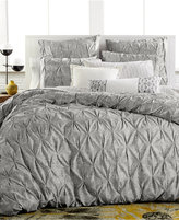 Bar III Diamond Pleat King Duvet Cover