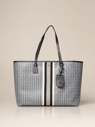 Tory Burch Gemini Link Bag In Textured Canvas