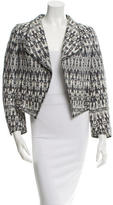 Derek Lam 10 Crosby Open Front Patterned Blazer