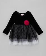 Nannette Black Star Dress - Infant & Toddler