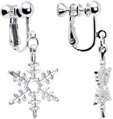 Body Candy Holiday Winter Snowflake Clip Earrings