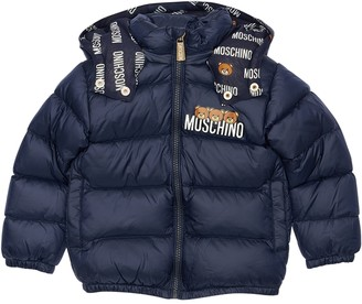 Moschino Logo Print Padded Nylon Jacket