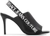 Versace Sling-Back Open Toe Heels