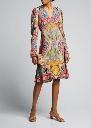 Etro Stained Glass-Print Jersey Dress