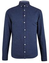 Burton Mens Blend Navy Printed Shirt*