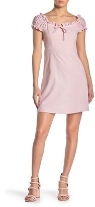 Planet Gold Empire Waist Mini Dress