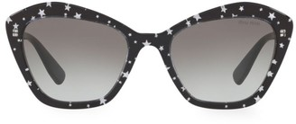 Miu Miu 55MM Star Cat Eye Sunglasses