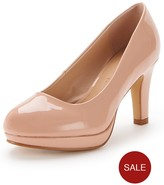 Very Matilda Extra Wide Fit Platform Court Shoes - Nude