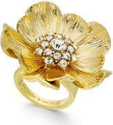 Kate Spade 14k Gold-Plated Crystal Cluster Poppy Ring