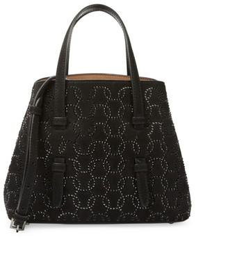 Alaia Mini Mina Studded Leather Tote