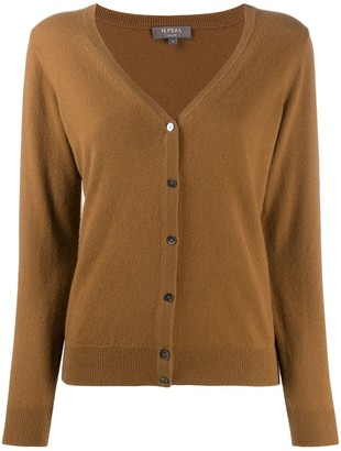 N.Peal V neck cashmere cardigan