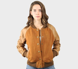Frye Lamb Leather Varsity Jacket