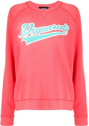 DSQUARED2 Relaxed Fit Logo Embossed Sweatshirt