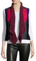 Bagatelle Patchwork Suede Vest, Multi Colors