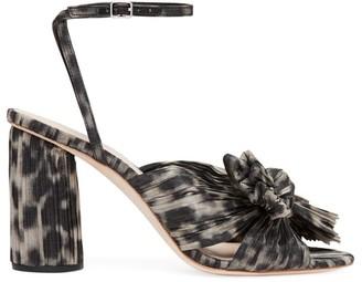 Loeffler Randall Camellia Knotted Leopard-Print Sandals