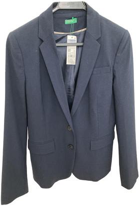 Benetton Blue Polyester Jackets