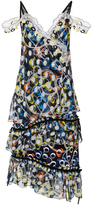 Peter Pilotto Off The Shoulder Print Dress