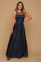 Thumbnail for your product : Little Mistress Grace Bridesmaid Navy Embellishment Sweetheart Maxi Dress