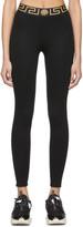Versace Underwear Black Greek Key Leggings