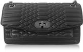 Zadig & Voltaire Black Quilted Leather Skinny Love Mat Shoulder Bag