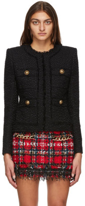 Balmain Black Tweed Jacket
