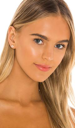 Ef Collection White Diamond & White Topaz Emerald Cut Stud Earrings