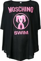 Moschino flamingo print cover-up