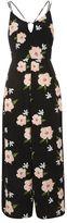 Topshop Strappy floral jumpsuit