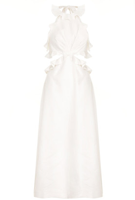 Zimmermann The Lovestruck Linen Midi Dress