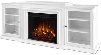 """Pottery Barn Real Flame 72"""" Frederick Electric Fireplace Media Cabinet"""