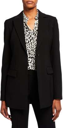 Lafayette 148 New York Frey One-Button Crepe Jacket