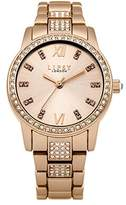 Lipsy Women's Quartz Watch with Rose Gold Dial Analogue Display and Rose Gold Alloy Bracelet LP464