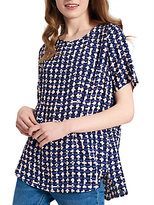 Joules Hannah Top, Navy Blue Weave