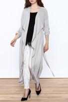 Lovposh Grey Long Kimono