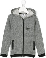 Karl Lagerfeld Choupette zip-up hoodie - kids - Cotton/Polyester - 10 yrs