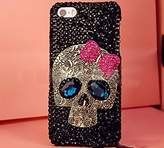 Iphone SE Skull Case,Jesiya Luxury 3D Shiny Crystal Sparkle Rhinestone Metal CrossBones/Skull Head Back Ultra Thin Hard PC Bling Diamond Glitter Case For Iphone SE