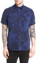 G Star Men's Landoh Palm Leaf Woven Shirt