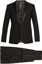 Dolce & Gabbana Shawl-collar three-piece wool-blend tuxedo